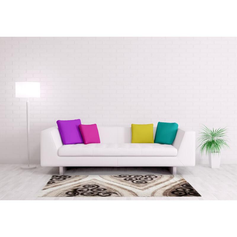 tapis shaggy beige brillant pour salon party. Black Bedroom Furniture Sets. Home Design Ideas