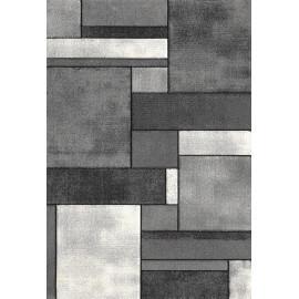 Tapis contemporain gris en polypropylène Orane