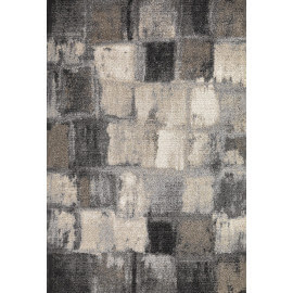 Tapis à courtes mèches contemporain gris Mendy