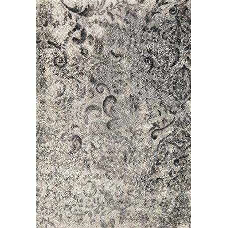 tapis motifs baroques vintage beige et gris clovis. Black Bedroom Furniture Sets. Home Design Ideas