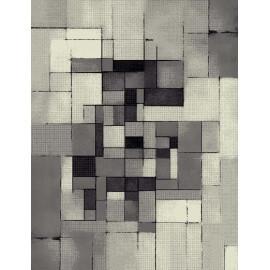 Tapis moderne gris en polypropylène Lutti