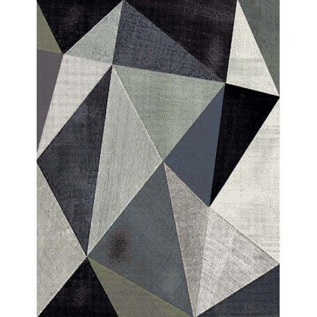 tapis design multicolore courtes m ches verdi. Black Bedroom Furniture Sets. Home Design Ideas