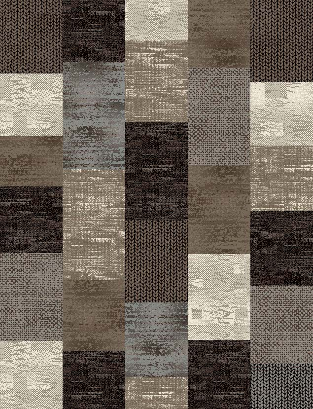 Tapis contemporain marron Mona