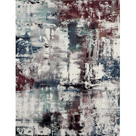 Tapis multicolore design aux velours fins Grace