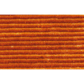 Tapis en polyester avec effet 3D uni orange Diamond