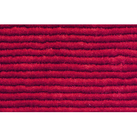 Tapis en polyester avec effet 3D uni rouge Diamond