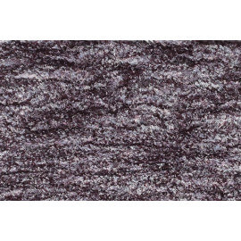 Tapis shaggy en polyester design noir chiné gris et blanc Ethno
