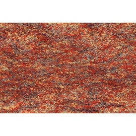Tapis shaggy en polyester design orange chiné beige Ethno