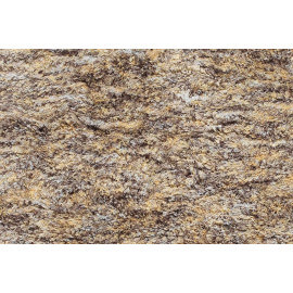 Tapis shaggy en polyester design taupe chiné beige Ethno