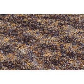Tapis shaggy en polyester design marron chiné Ethno