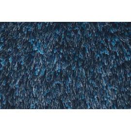 Tapis tufté mécanique shaggy bleu Andrew