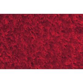 Tapis tufté mécanique shaggy rouge Andrew