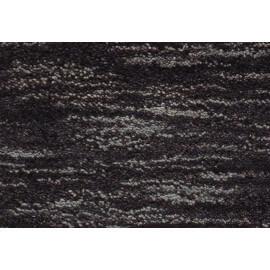 Tapis en laine tufté main à courtes mèches uni noir Mia