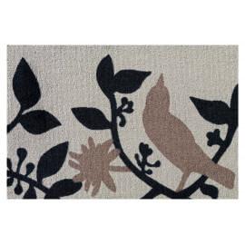 Paillasson à motifs animalier blanc en Nylon Pic