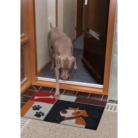 Paillasson à motifs animalier noir en Nylon Dog