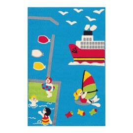 Tapis  multicolore pour chambre d'enfant Island
