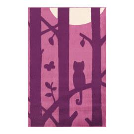 Tapis violet pour chambre d'enfant Doris