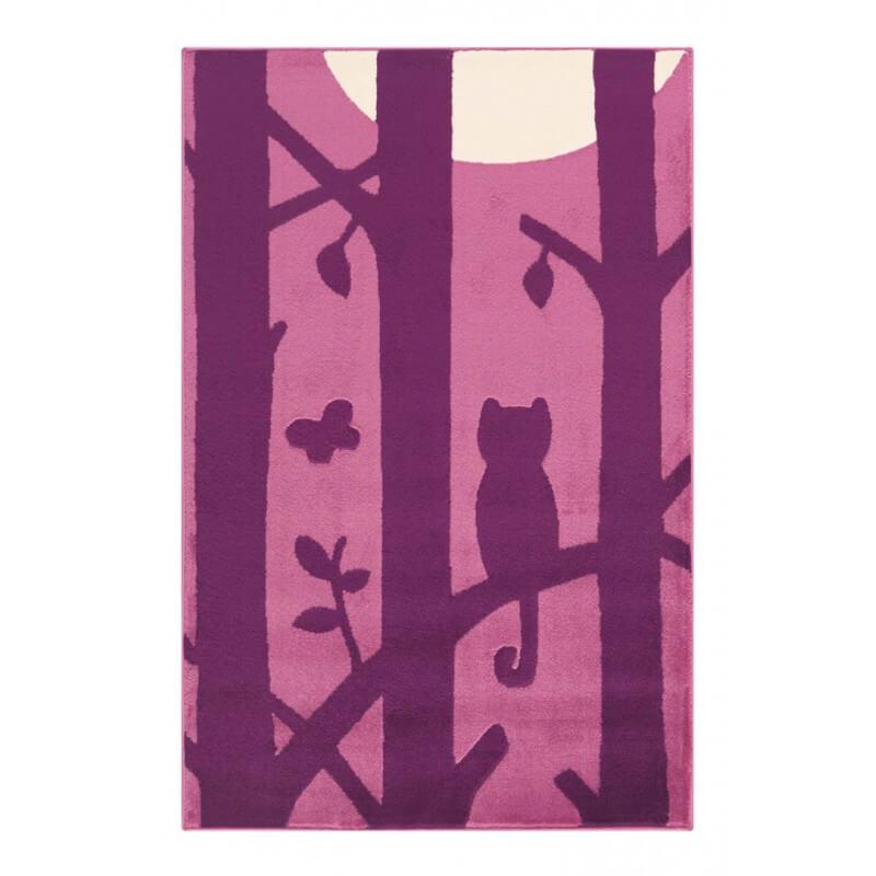 tapis violet pour chambre d 39 enfant doris. Black Bedroom Furniture Sets. Home Design Ideas