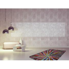 Tapis brillant à longues mèches pour salon multicolore Spirit