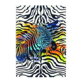 Tapis ethnique pour salon en polypropylène Zebra