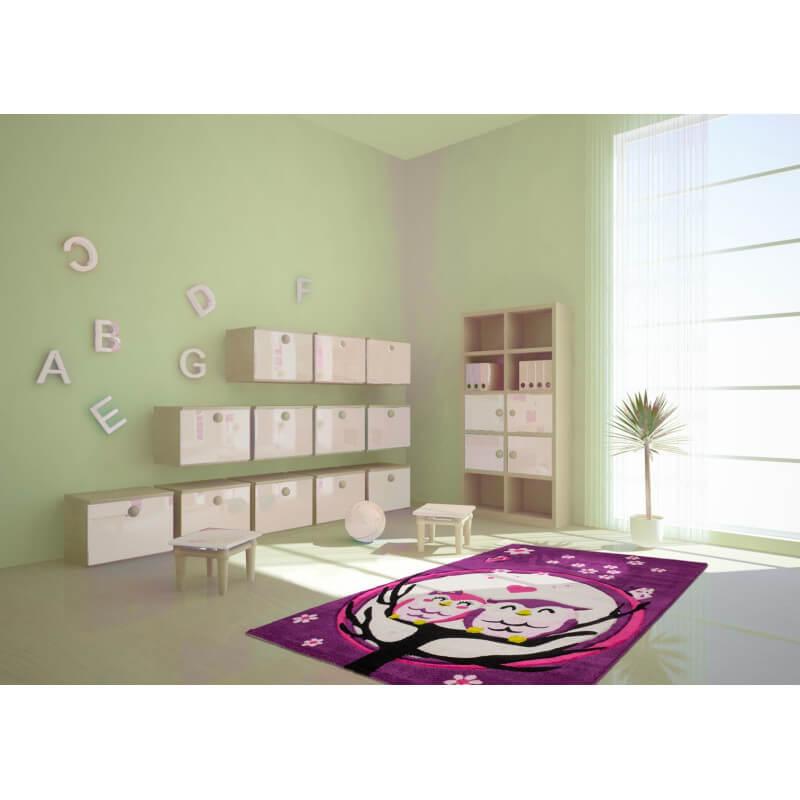 tapis pour chambre de fille pourpre milo. Black Bedroom Furniture Sets. Home Design Ideas