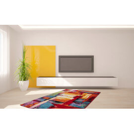 Tapis design pour salon multicolore South