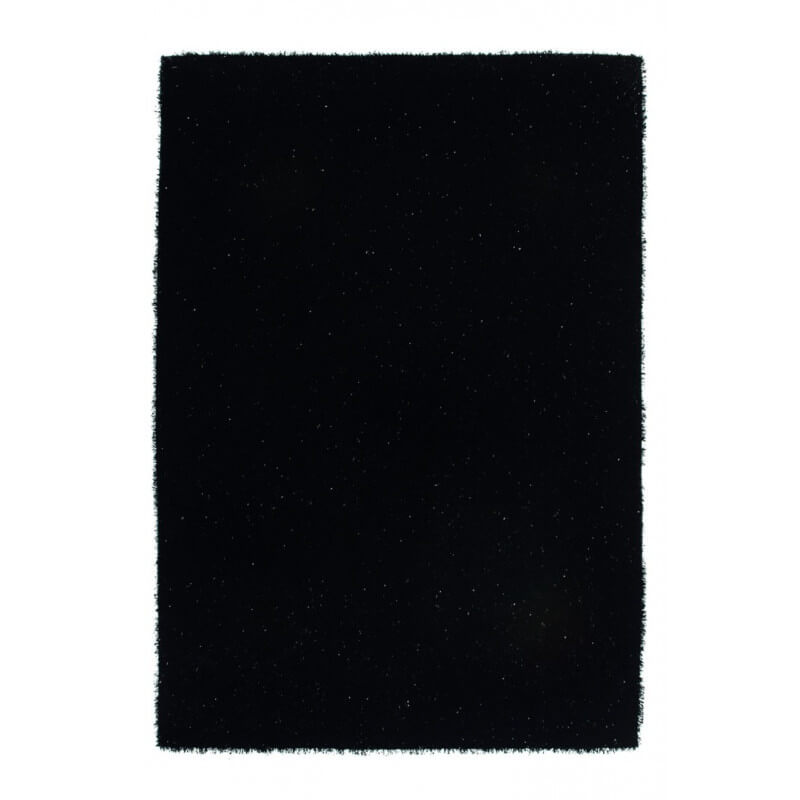 tapis shaggy uni brillant tuft main noir coco. Black Bedroom Furniture Sets. Home Design Ideas