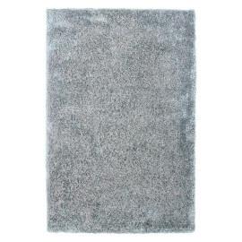 Tapis tufté main en polyester aux longs velours argenté Wellington