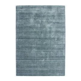 Tapis argenté en laine et viscose à courtes mèches Sherpa