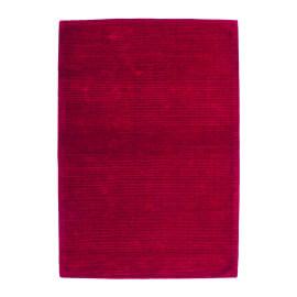 Tapis rouge uni en viscose à courtes mèches Boston
