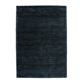 Tapis anthracite uni en viscose à courtes mèches Boston