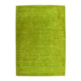 Tapis vert uni en viscose à courtes mèches Boston