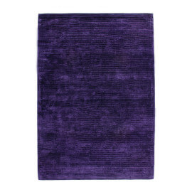 Tapis mauve uni en viscose à courtes mèches Boston