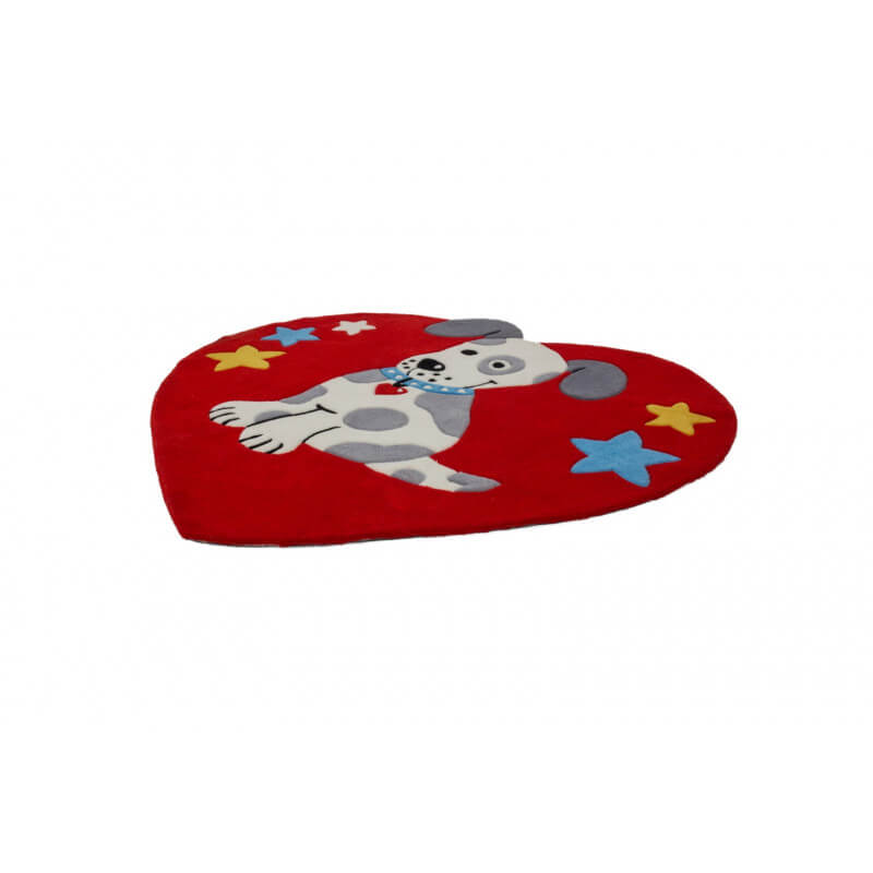 tapis c ur rouge en acrylique pour enfant doggy. Black Bedroom Furniture Sets. Home Design Ideas