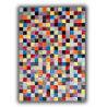 Tapis multicolore patchwork en cuir naturel Vigo
