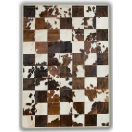 Tapis en peau de vache Normande sans bord patchwork Sabadell