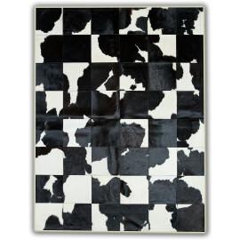 Tapis rectangulaire façon vache laitière noir et blanc Coslada