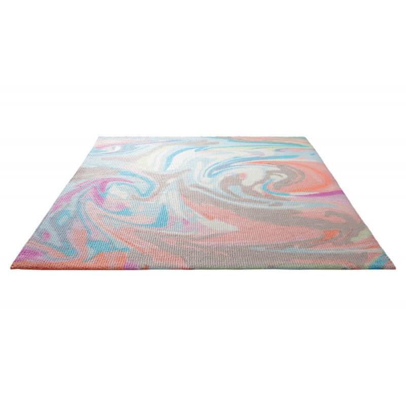 tapis tuft main et imprim multicolore en acrylique swirl. Black Bedroom Furniture Sets. Home Design Ideas