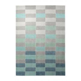 Tapis turquoise tufté main design Fida Esprit Home