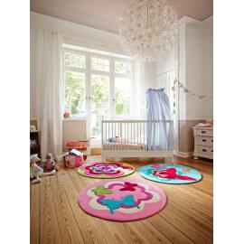 Tapis pour chambre d'enfant turquoise Butterflies Esprit Home