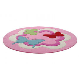 Tapis rose pour enfant tufté main Butterfly Party Esprit Home