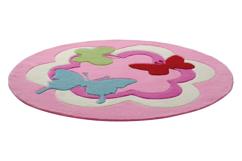 Tapis rose pour enfant tuftu00e9 main Butterfly Party Esprit Home