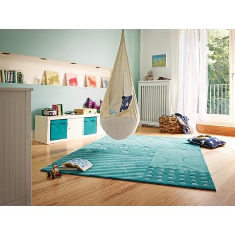 Tapis pour chambre de fille turquoise Stars and Stripes Esprit Home