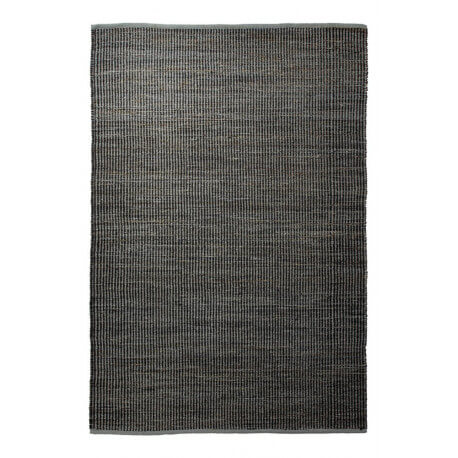 Tapis en jute et laine d'Inde noir Gobi Esprit Home