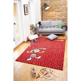 Tapis rouge pour chambre d'enfant Rainbow Rabbit Sigikid
