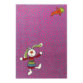 Tapis rose pour chambre d'enfant Rainbow Rabbit Sigikid