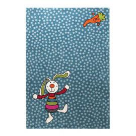 Tapis bleu pour chambre d'enfant Rainbow Rabbit Sigikid