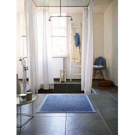 Tapis de bain en coton et polyester bleu Caldera Esprit Home