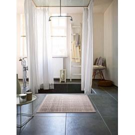 Tapis de salle-de-bain beige antidérapant Graficule Esprit Home