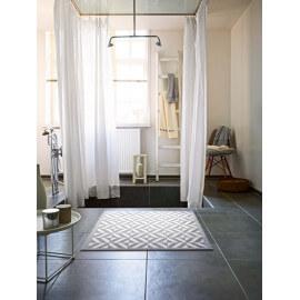 Tapis antidérapant de salle-de-bain argenté Kaleidoscope Esprit Home